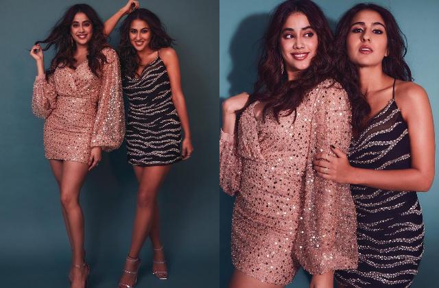 Too hot to handle! शाॅर्ट ड्रेस में जाह्नवी सारा ने ढाया कहर, B-Town की नई BFF ने फोटोशूट में दिए गजब के एक्सप्रेशन