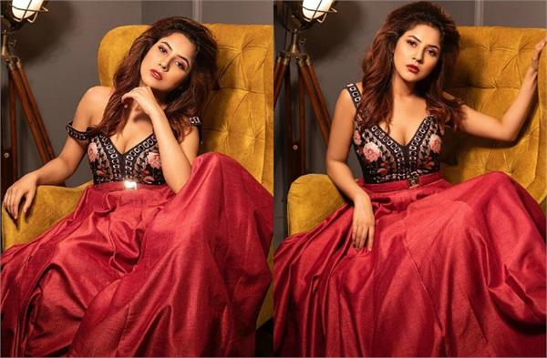 shehnaz gill is a style diva as she nails her diwali attire