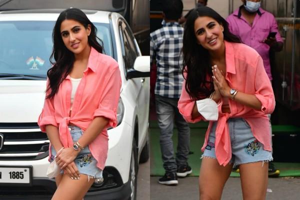 sara ali khan looks glamorous as she spotted outside mehboob studios