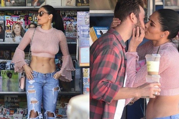 nikki bella spotted with boyfriend artem chigvintsev outside the book store