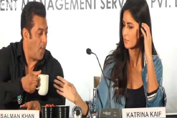 salman khan and katrina kaif viral video from press conference