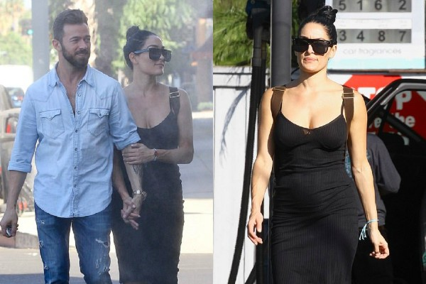nikki bella lunch date with boyfriend artem chigvintsev