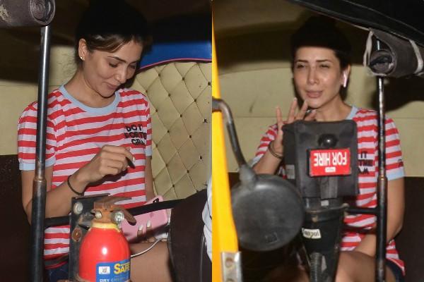 देर रात ऑटो-रिक्शा की सवारी करती दिखीं किम शर्मा, सामने आई तस्वीरें