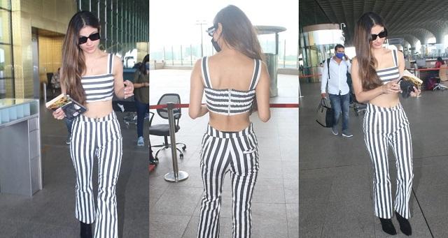 स्टाइलिश लुक में मौनी रॉय ने एयरपोर्ट पर मारी एंट्री,पहले न देखा होगा हसीना का ये अंदाज