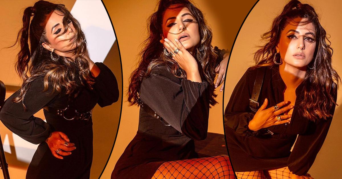 ब्लैक ड्रेस में हिना खान ने लगाया ग्लैमरस का तड़का, एक से बढ़कर एक सिजलिंग अदाएं देख फैंस हुए मदहोश