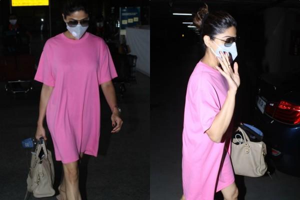 एयरपोर्ट पर स्पाॅट हुईं की 'शरारा गर्ल', वन पीस ड्रेस में दिखा कूल लुक