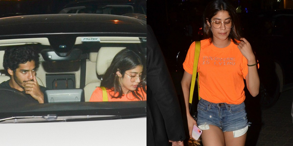janhvi kapoor dinner date with ishaan khattar