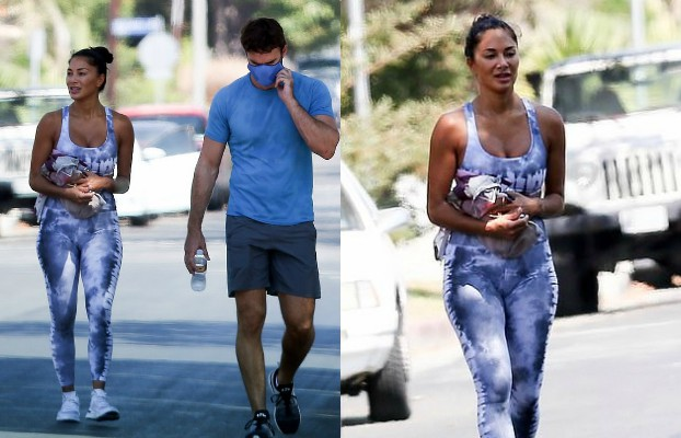 nicole scherzinger spotted at gym with boyfriend thom evans in la