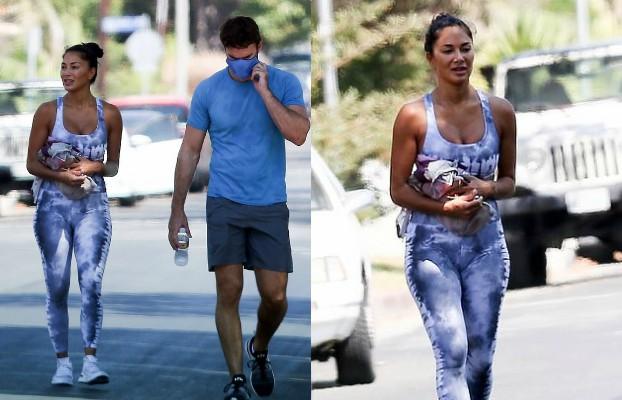 nicole scherzinger spotted at gym with boyfriend thom evans in la