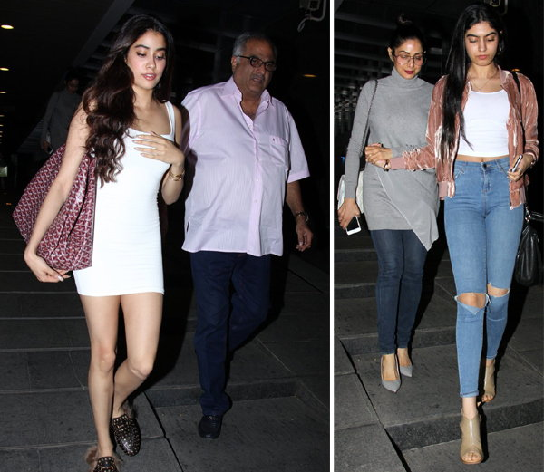 this is how sridevis lovely daughters attend father boney kapoor birthday bash