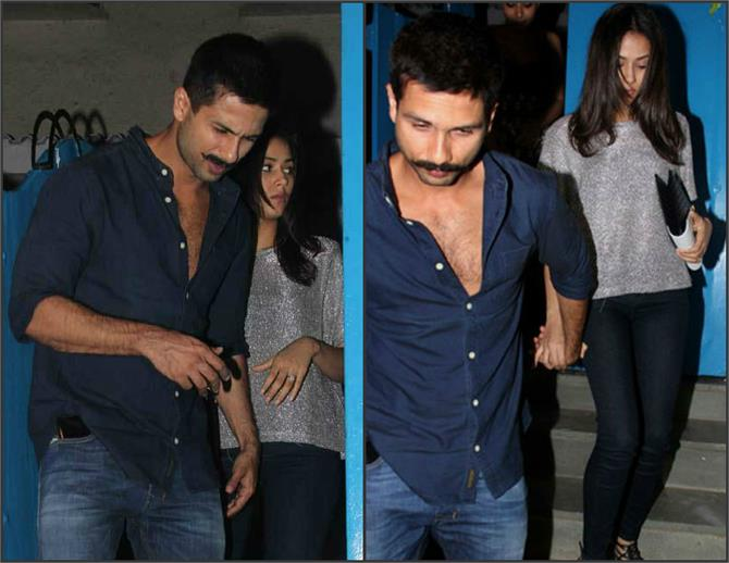 shahid kapoor and mira spotted on dinner date