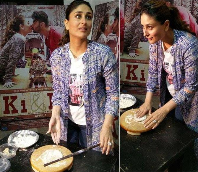 kareena kapoor make chapati