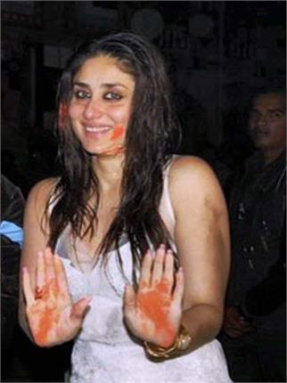 kareena kapoor will not play holi this year
