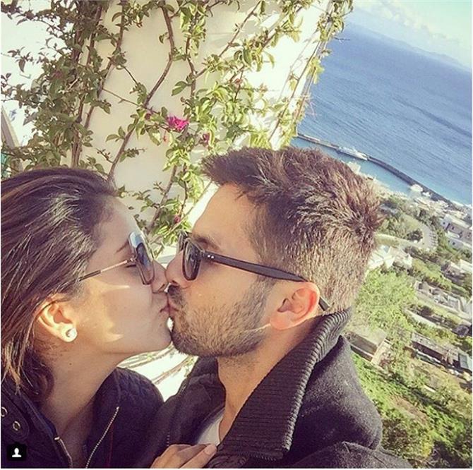 shahid mira first anniversary kiss