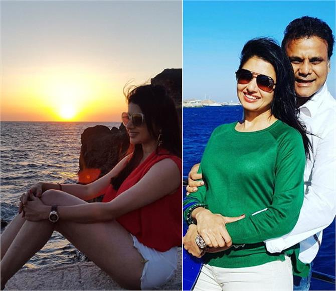 salman heroine is celebrating some vacation arm