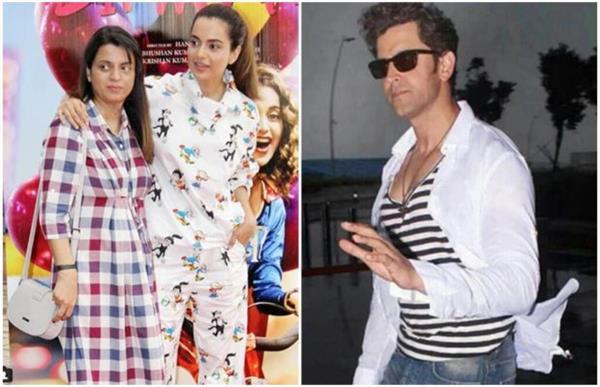 bollywood kangna ranauts sister calls hritik uncle on twitter