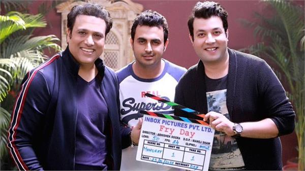 govinda started his come back movie fry day shooting shared pic