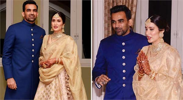 sagarika ghatge zaheer khan marriage reception