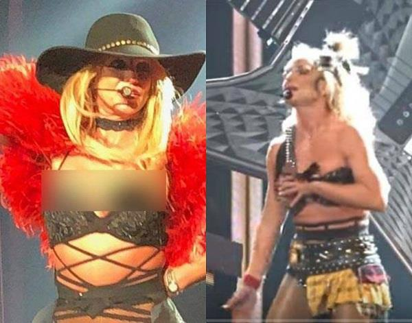 britney spears slip dress while performing