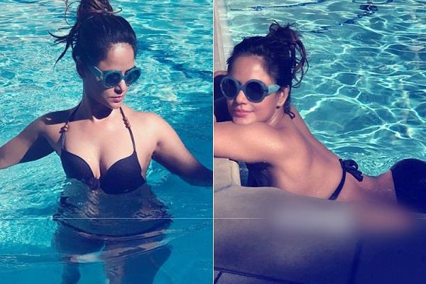 neetu chandra enjoying holiday