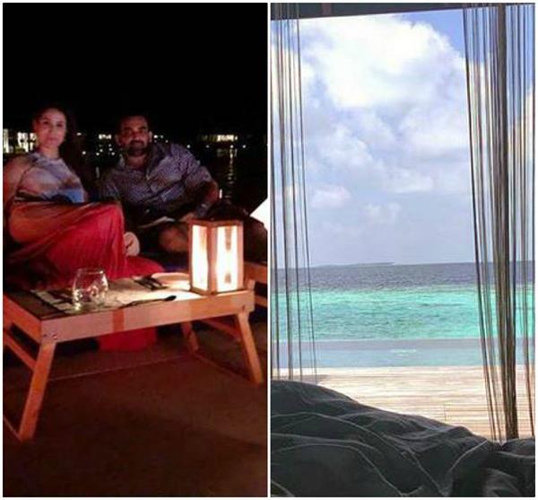 zaheer khan sagarika ghatge honeymoon maldives