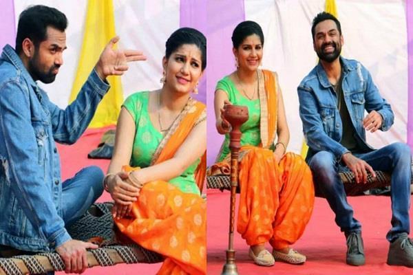 abhay deol and sapna chaudhary shoot for film nanu ki jaanu