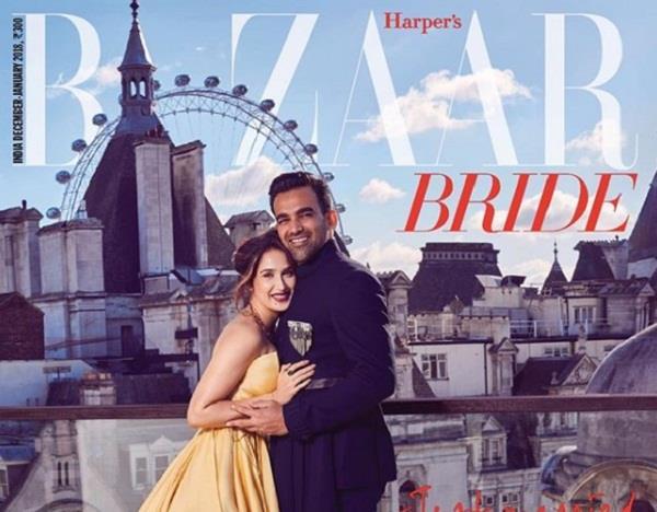 zaheer khan and sagarika ghatge first magazine photoshoot