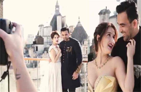 zaheer khan sagarika ghatges harpers bazaar bride photoshoot making video