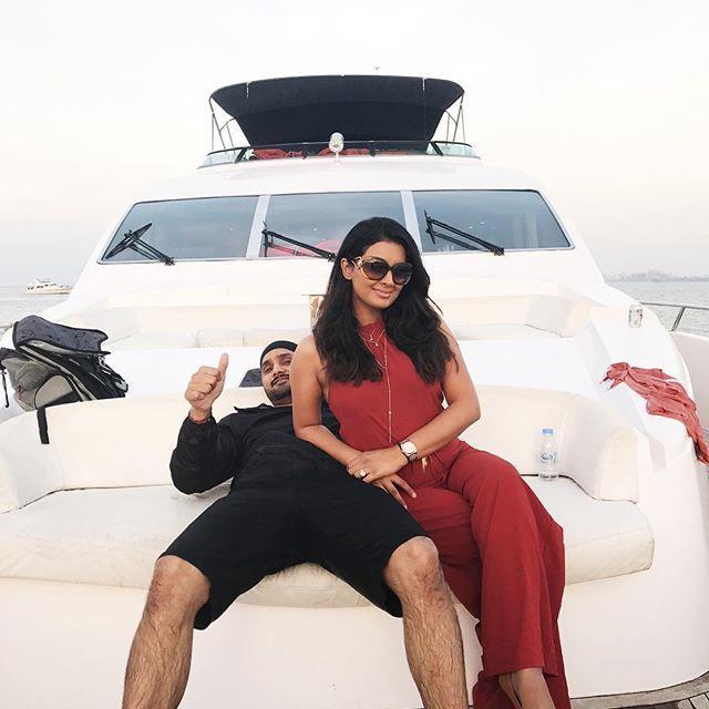 harbhajan singh and geeta basra celebtared new year 2017 on a yacht