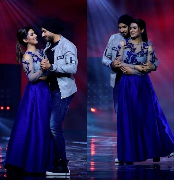 harbhajan and his wife geeta love chemistry on nach baliye set