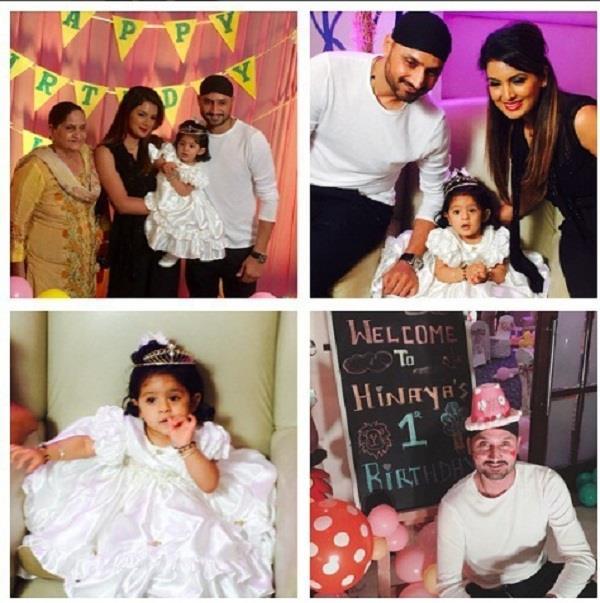 harbhajan and geeta celebrating daughter hinaya first birthday