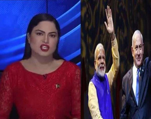 veena malik uses expletive words for pm modi in her tv news show