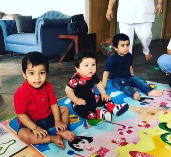 taimur ali khan is all set to learn the rhymes
