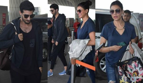 sushmita sen spotted airport with her mystery boy