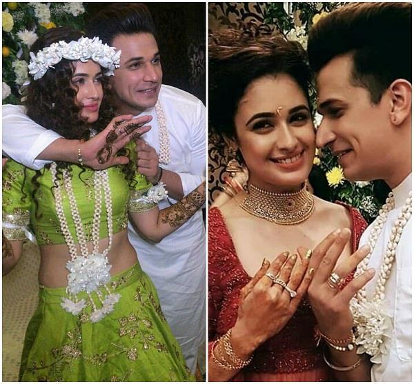 prince narula and yuvika chaudhary mehndi ceremony