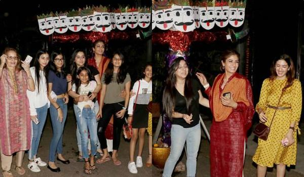 raveena tandon celebrates dussehra with her family