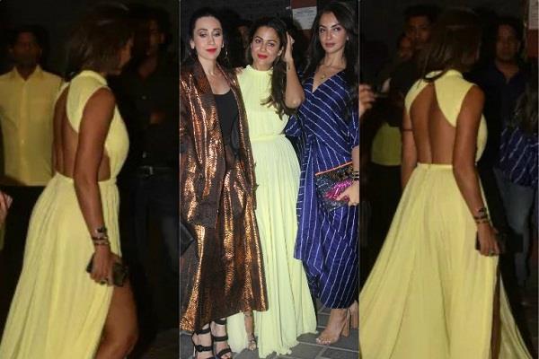 karishma and amrita hot look at aayush sharma birthday bash