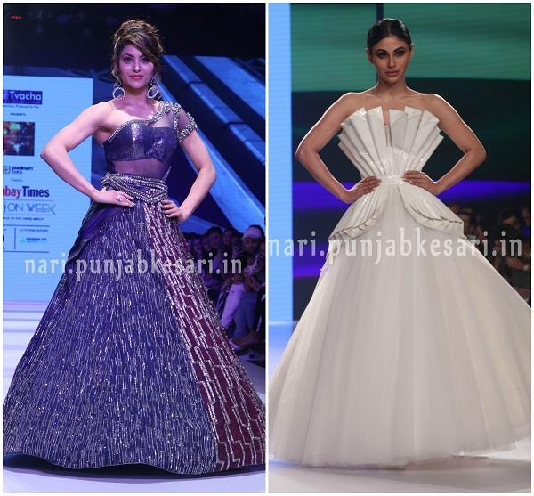 mouni roy urvashi rautela other celebs at bombay times fashion week