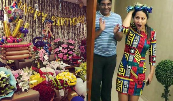 hina khan shares pictures of gifts