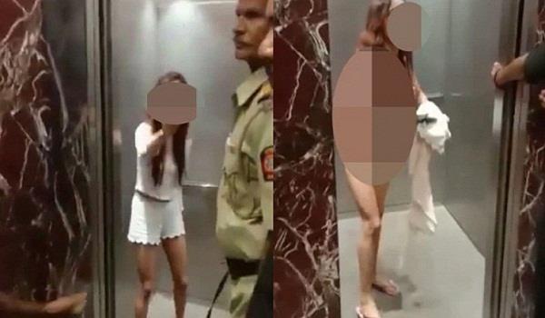 पहले मॉडल ने गार्ड के साथ की बदतमीजी, फिर सबके सामने लिफ्ट में उतारे कपड़े