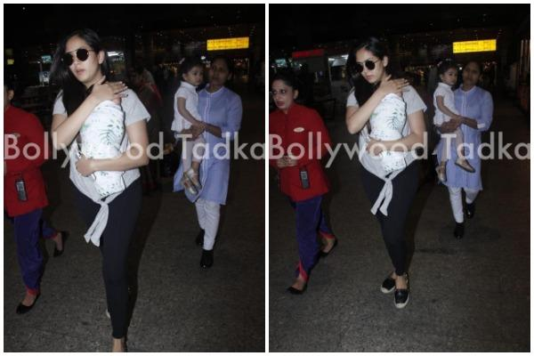 mira rajput spotted at airport with her son jain