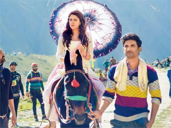 sushant sara dangerous stunts for kedarnath