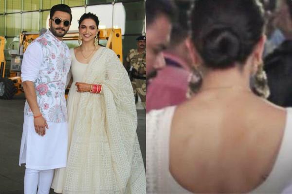deepika padukone remove her rk tattoo post wedding with ranveer singh