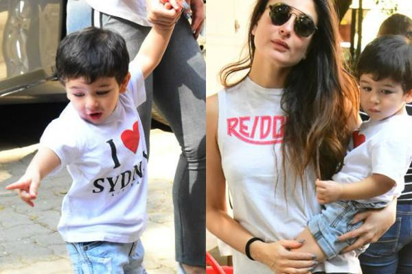 taimur spotted at mehboob studio in bandra with his mother kareena kapoor