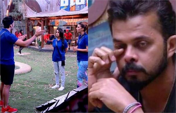 rohit fight with housemate and sreesanth get emotional in bigg boss house