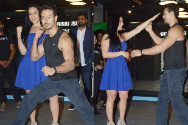 tiger shroff with sister krishna shroff at launch of mma matrix gym