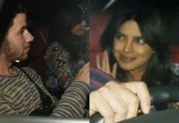 priyanka chopra and nick jonas spotted at mumbai airport