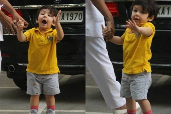 taimur ali khan spotted outside the house with nanny