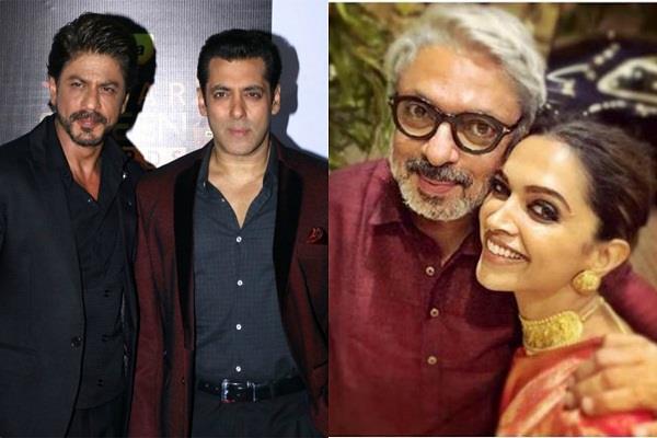 deepika padukone with salman khan or shahrukh in sanjay leela bhansali movie