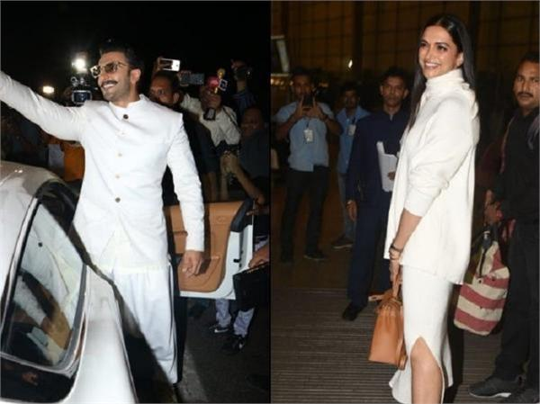 deepika ranveer are all smiles as they fly to italy for wedding